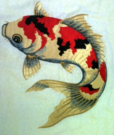 painted koi fish would do