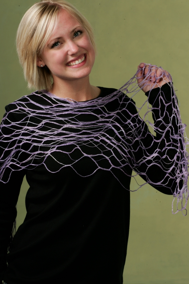 SERGER LACE SCARF made with coverhem on your ELNA SERGER