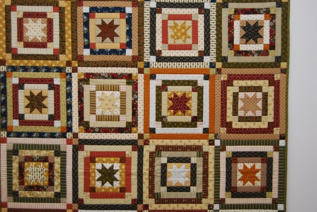 Dianne Jansson of Pritchard, BC taught a Scrappy Log cabin quilt - isn't it just the perfect way to use us some of your stash?
