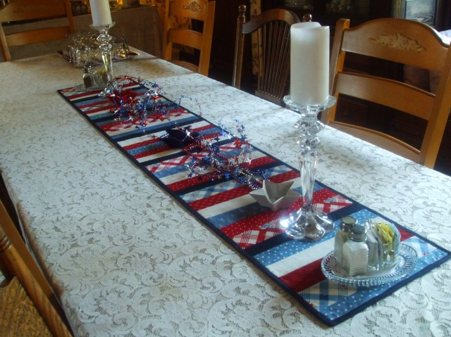 It was just after the 4th July so was quite fitting to see this table runner on the breakfast table at the Blue Gull Inn in Port Townsend.