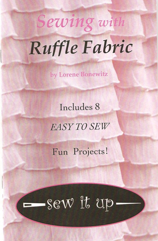 One of the merchants selling ruffle fabric mentioned below has this little booklet - was most useful. Her website is sewitupstudio@blogspot.com