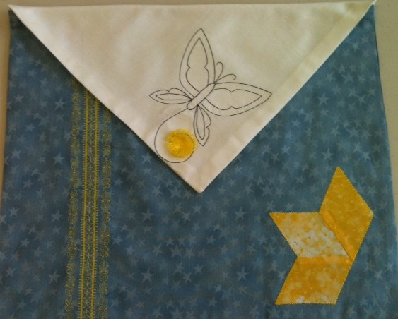 ANOTHER VERSION OF THE SAME PROJECT - JUST DIFFERENT EMBROIDERY & DEC. STITCHING